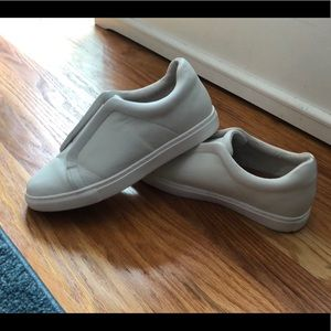 White Slip on Sneakers Size 8